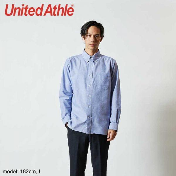 United Athle 1269-01 Adult Long Sleeve OxfordShirt