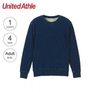 3906 12.2oz Adult Indigo Crewneck Sweatshirt