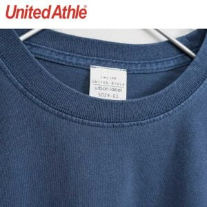 United Athle 5029-01 pigment dye cotton washed-pocket tee