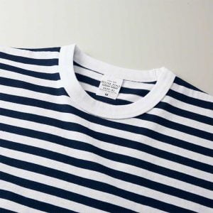 5625 5.6oz Adult Striped Cotton T-shirt