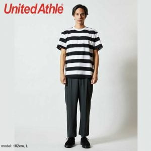 5625-01 5.6oz Adult Striped Cotton T-shirt