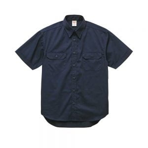 United Athle 1759-01 T/C Short Sleeve Pocket Work Shirt