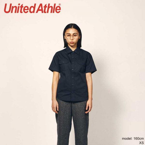 United Athle 1759-01 T/C Short Sleeve Pocket Work Shirt