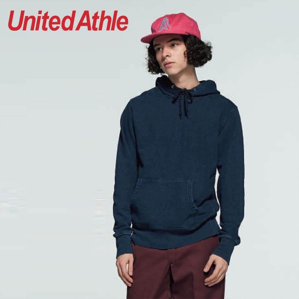3907 12.2oz Adult Indigo Hooded Sweatshirt
