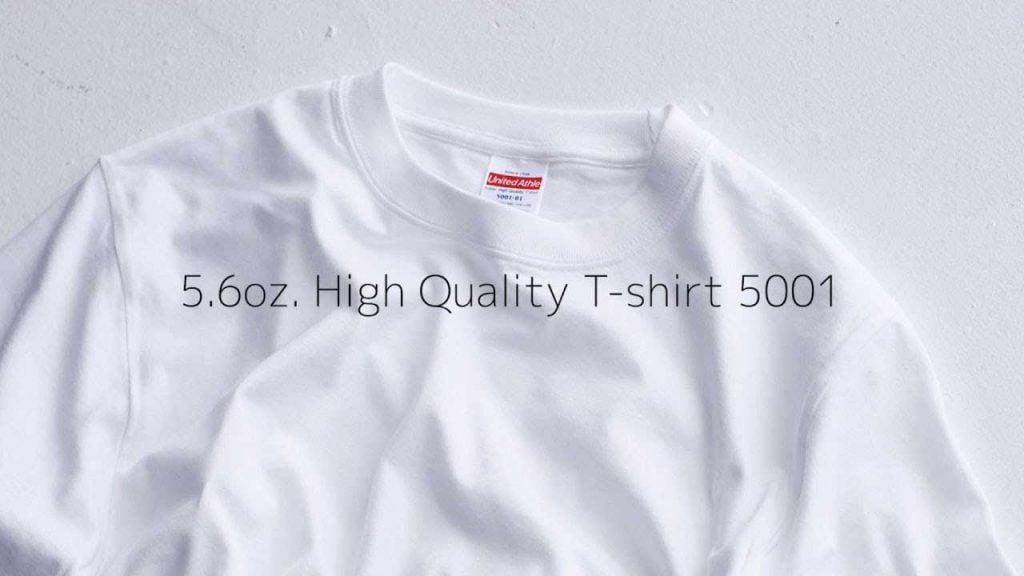 5001-01 5.6oz 日本新款優質潮流全棉 T 恤