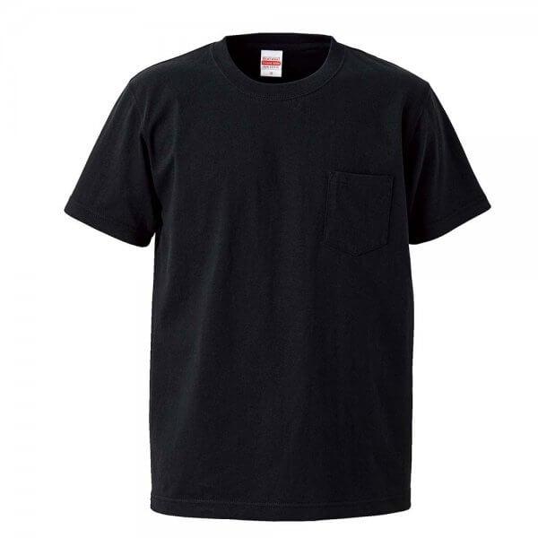 4253 7.1oz 圓領短袖有袋超重磅T恤 Black 002