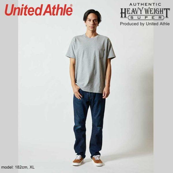 4253 7.1oz 圓領短袖有袋超重磅T恤 Mix Grey 006