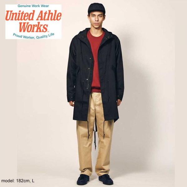 United Athle 7447-01 T/C 軍裝長版風褸