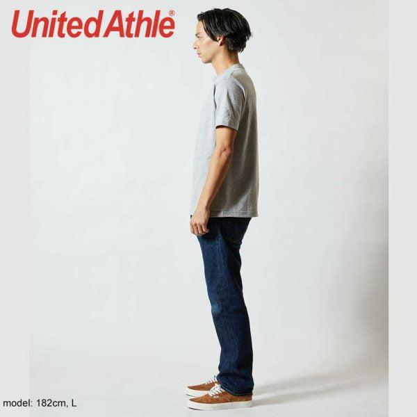 United Athle 5004-01 5.6oz 成人短袖亨利領 T恤
