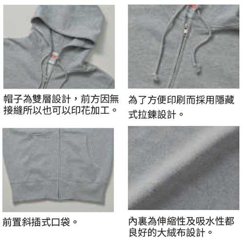 5213 純棉連帽拉鍊衛衣
